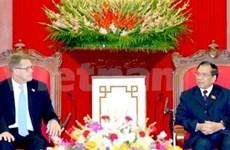 Reciben dirigentes vietnamitas a premier finés