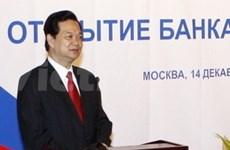 Premier vietnamita con empresarios rusos