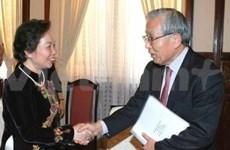 Recibe vicepresidenta vietnamita a subdirector de FMI