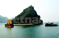 Arriba crucero turístico a Ha Long