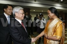 En la India presidente parlamentario vietnamita