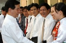 Presidente vietnamita recorre provincia norteña