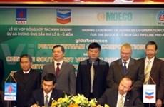 Firman contrato para construir gasoducto