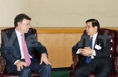 Presidente vietnamita se reúne con dirigentes extranjeros