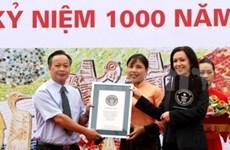 Mural cerámico en Ha Noi establece récord Guinness