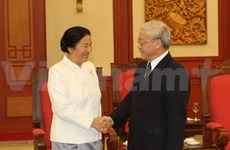 Dirigentes vietnamitas reciben a presidenta del parlamento laosiano