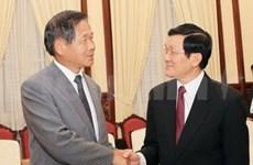 Recibe presidente vietnamita al presidente japonés