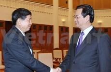 Premier vietnamita recibe a ministros laosianos