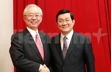 Presidente vietnamita recibe vicepresidente de banco japonés