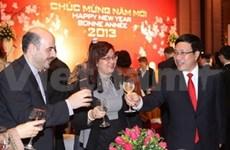 Encuentros de Tet para amigos internacionales en Vietnam