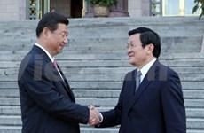 Presidentes vietnamita y chino conversan en Beijing