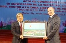 Reviven histórica visita de Fidel Castro a Quang Tri