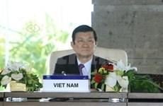 Intensas actividades del presidente vietnamita en APEC