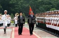 Presidente vietnamita da bienvenida a su par búlgaro