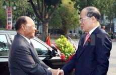Dirigentes legislativos ratifican hermandad Vietnam-Cambodia