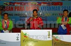 Vietnam en primer lugar en Juegos Paralímpicos regionales