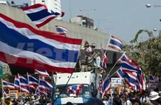 Manifestantes continúan marchas antes de las elecciones en Tailandia