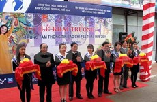Inauguran centro de prensa de Festival Hue 2014