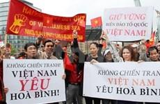 Comunidad vietnamita en ultramar protesta contra acciones chinas