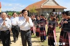 Presidente vietnamita recorre provincia altiplana de Gia Lai
