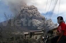 Volcán Sinabung en Indonesia entra nuevamente en erupción