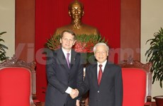 Líder partidista vietnamita se reúne con presidente de Duma estatal rusa