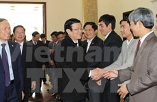 Presidente vietnamita visita provincia de Thanh Hoa