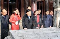 Presidente revisa restauración de zona patrimonial Hoa Lu