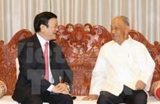 Presidente vietnamita se reúne con ex dirigentes laosianos