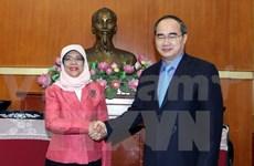 Continúa actividades en Vietnam presidenta parlamentaria singapurense