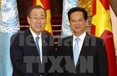 Premier vietnamita recibe a secretario general de la ONU