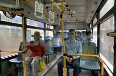 Autobuses de Hanoi reanuda actividades con poco cliente