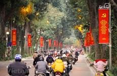 Decoradas calles de Hanoi para dar la bienvenida al XIII Congreso Nacional del PCV
