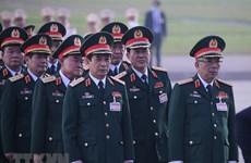 Delegados del XIII Congreso partidista de Vietnam rinden homenaje al Presidente Ho Chi Minh