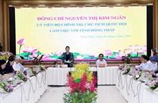 Presidenta del Parlamento vietnamita destaca el desarrollo agrícola en provincia de Dong Thap