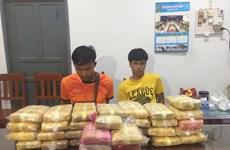 Incautan en la frontera entre Vietnam y Laos cargamento récord de drogas