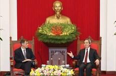 Dirigente partidista vietnamita recibe a subsecretario adjunto de Tesoro de Estados Unidos
