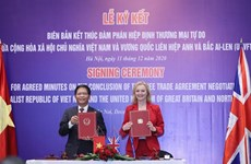 TLC entre Vietnam y Reino Unido entrará en vigor fin de este año