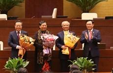 Ratifican relevo de tres vicepresidentes del Parlamento de Vietnam