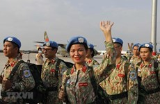 Personal del segundo hospital de campaña de Vietnam regresa desde Sudán del Sur