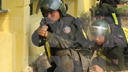 Realizan Vietnam y China maniobra antiterrorista transfronteriza