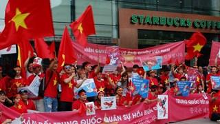 Marcha pacífica en Seúl contra actos ilegales de China en Mar del Este