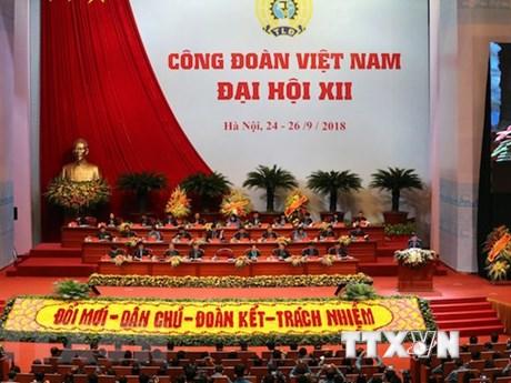 Inauguran en Hanoi duodécimo Congreso Sindical de Vietnam