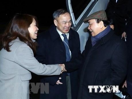 Llegó a Suiza el primer ministro de Vietnam para reunión anual del Foro Económico Mundial