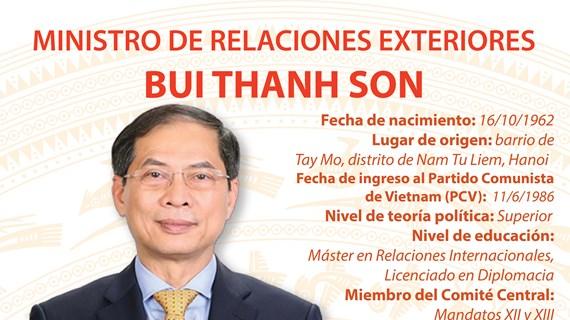 Bui Thanh Son, Ministro de Relaciones Exteriores de Vietnam