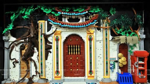 Recrean pagodas vietnamitas con piezas de Lego