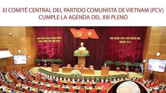 El Comité Central del Partido Comunista de Vietnam cumple la agenda del XIII pleno