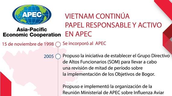 VIETNAM CONTINÚA  PAPEL RESPONSABLE Y ACTIVO EN APEC
