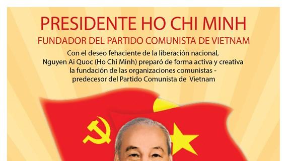 Presidente Ho Chi Minh, fundador del Partido Comunista de Vietnam