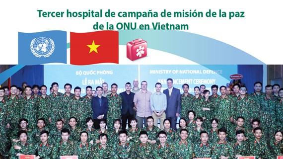 [Info] Tercer hospital de campaña de misión de la paz de la ONU en Vietnam
